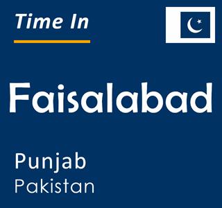 Current time in Faisalabad, Punjab, Pakistan