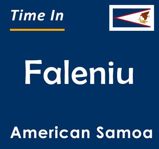 Current time in Faleniu, American Samoa