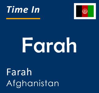 Current time in Farah, Farah, Afghanistan