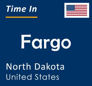 Current time in Fargo, North Dakota, United States