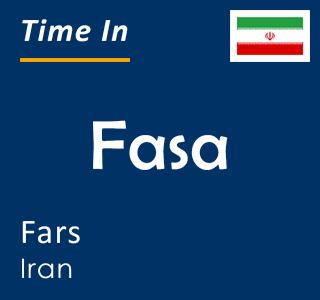 Current time in Fasa, Fars, Iran