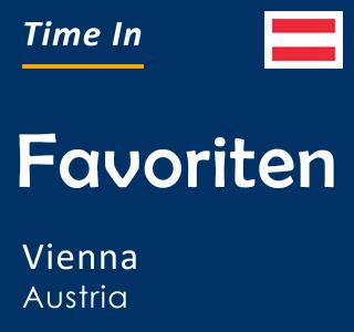 Current time in Favoriten, Vienna, Austria