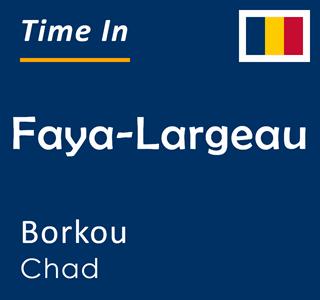 Current time in Faya-Largeau, Borkou, Chad