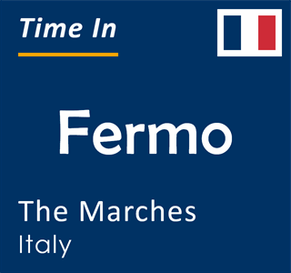 Current time in Fermo, The Marches, Italy