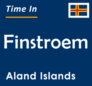 Current time in Finstroem, Aland Islands