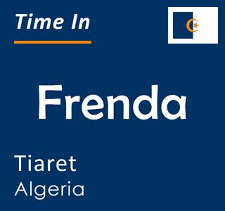 Current time in Frenda, Tiaret, Algeria