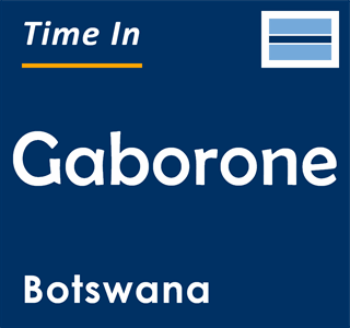 Current time in Gaborone, Botswana