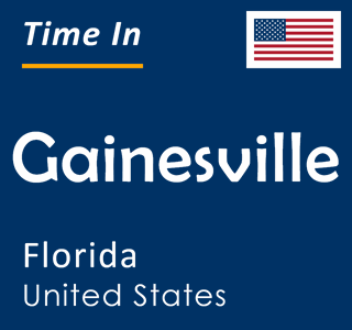 Current time in Gainesville, Florida, United States