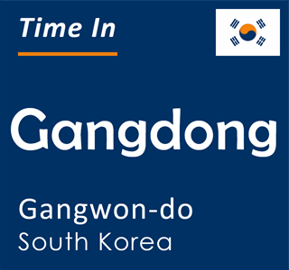 Current time in Gangdong, Gangwon-do, South Korea