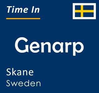 Current time in Genarp, Skane, Sweden
