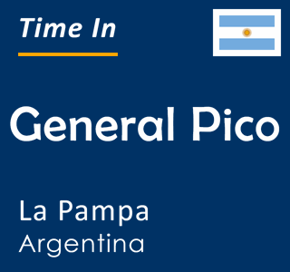 Current time in General Pico, La Pampa, Argentina