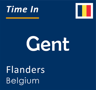 Current time in Gent, Flanders, Belgium