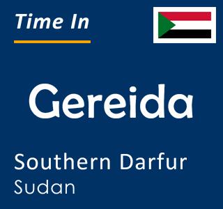 Current time in Gereida, Southern Darfur, Sudan