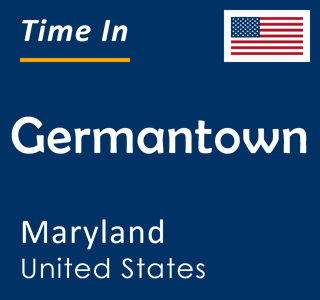 Current time in Germantown, Maryland, United States