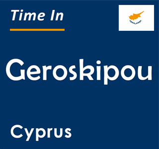 Current time in Geroskipou, Cyprus