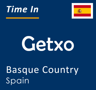 Current time in Getxo, Basque Country, Spain