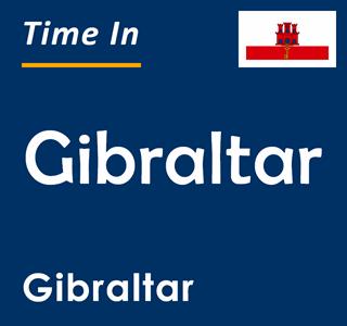Current time in Gibraltar, Gibraltar