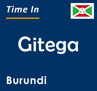 Current time in Gitega, Burundi