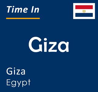 Current time in Giza, Giza, Egypt