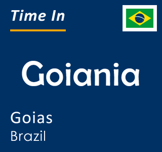 Current time in Goiania, Goias, Brazil