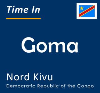 Current time in Goma, Nord Kivu, Democratic Republic of the Congo