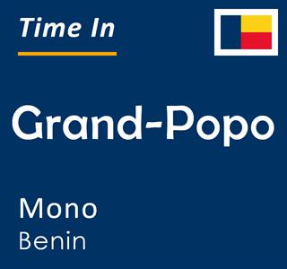 Current time in Grand-Popo, Mono, Benin