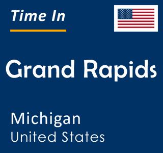 Current time in Grand Rapids, Michigan, United States