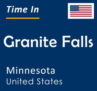 Current time in Granite Falls, Minnesota, United States
