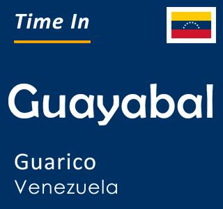 Current time in Guayabal, Guarico, Venezuela