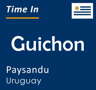 Current time in Guichon, Paysandu, Uruguay