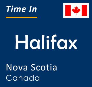 Current time in Halifax, Nova Scotia, Canada