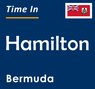 Current time in Hamilton, Bermuda