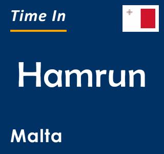 Current time in Hamrun, Malta