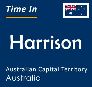 Current time in Harrison, Australian Capital Territory, Australia