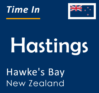Current time in Hastings, Hawke's Bay, New Zealand