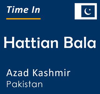 Current time in Hattian Bala, Azad Kashmir, Pakistan