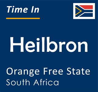 Current time in Heilbron, Orange Free State, South Africa