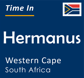 Current time in Hermanus, Western Cape, South Africa