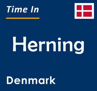 Current time in Herning, Denmark
