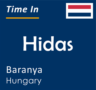 Current time in Hidas, Baranya, Hungary