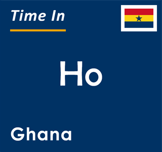 Current time in Ho, Ghana