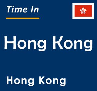Current time in Hong Kong, Hong Kong