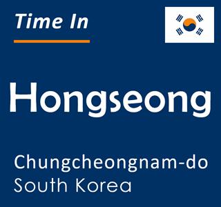 Current time in Hongseong, Chungcheongnam-do, South Korea