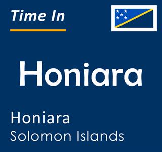 Current time in Honiara, Honiara, Solomon Islands