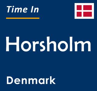 Current time in Horsholm, Denmark