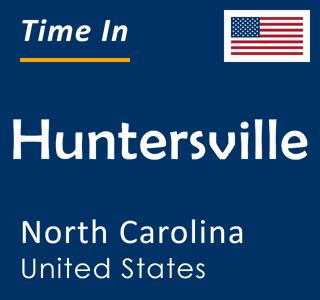 Current time in Huntersville, North Carolina, United States