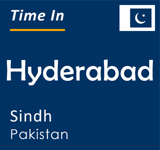 Current time in Hyderabad, Sindh, Pakistan