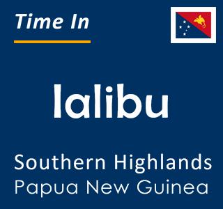 Current time in Ialibu, Southern Highlands, Papua New Guinea