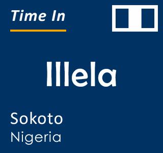 Current time in Illela, Sokoto, Nigeria