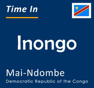 Current time in Inongo, Mai-Ndombe, Democratic Republic of the Congo